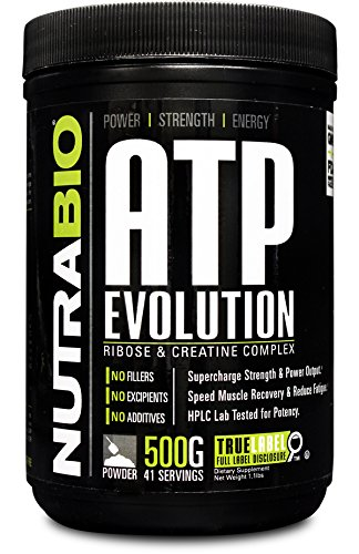 NutraBio ATP Evolution d-Ribose & Creatine - 500 Grams with Creatine MagnaPower. Supercharges Energy and Endurance.