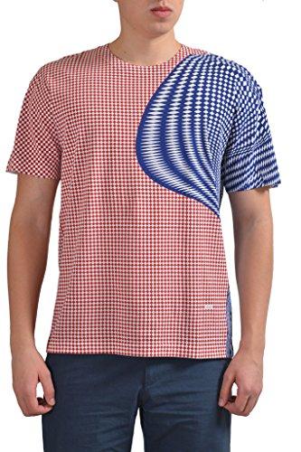 (Prada Men's Multi-Color Graphic Short Sleeve T-Shirt US M IT 50;)