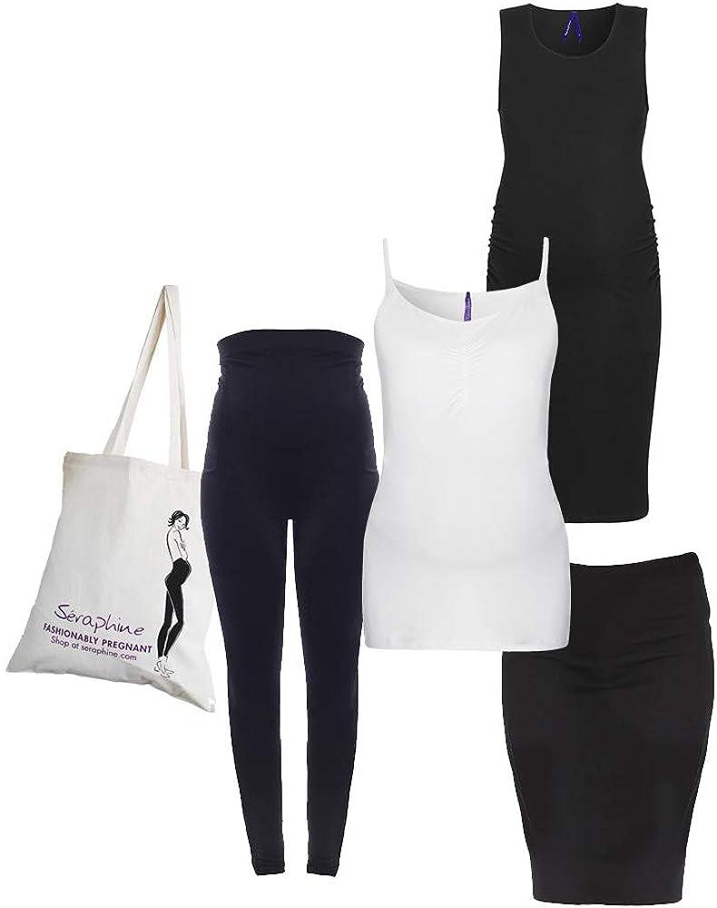 Seraphine New York Bump Kit - Vestido de maternidad, chaleco ...