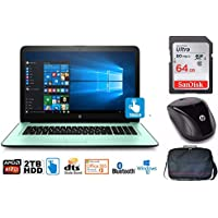 """HP Notebook 17 Bundle, AMD A12, 2TB HD, 12GB, 17.3"""" TouchScreen, Office 365 1-Yr (Certified Refurbished0"""