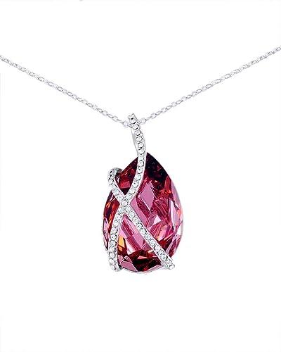5302c4fa20 Swarovski Elements Women's 18K White Gold Plated Necklace - SWR-038 ...