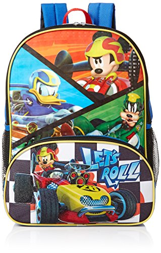 Disney Boys' Mickey Mouse Roadsters Backpack, Blue (Backpack For Boys Mickey Mouse)