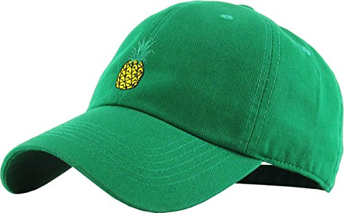 (KBSV-021 KGN Pineapple Dad Hat Baseball Cap Polo Style Adjustable)