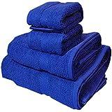 Trident 400 g/m², Juego de 4 toallas de algodón (baño y mano