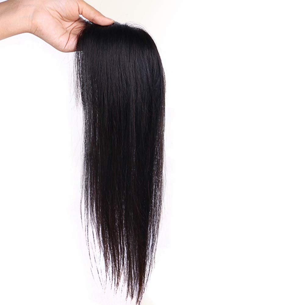 Vergeania ヘアエクステンションで女性のリアルヘアクリップふわふわかつらロングストレートヘアデイリーパーティーウィッグ (色 : [7x10] 35cm dark brown) B07QPF5MFR [7x10] 35cm dark brown