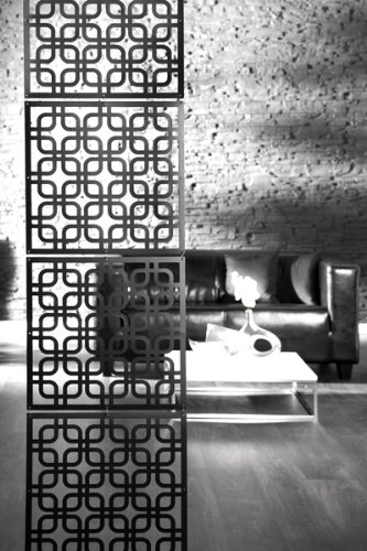 Stylischer Raumteiler Cubic Schwarz Sichtschutz Deko Retro Amazon