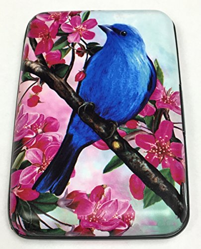 (Fig Design Group Blue Bird RFID Secure Data Theft Protection Credit Card Armored Wallet New)