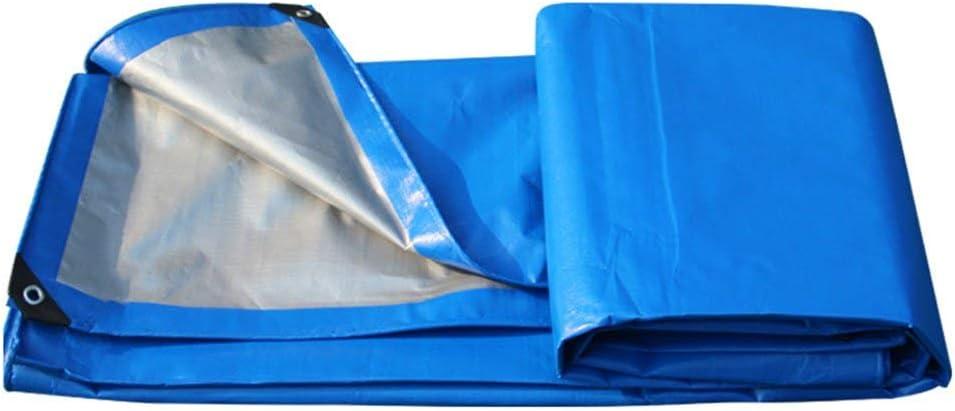 Juexianggou 屋外テントターポリン肥厚屋外防水日焼け止めプラスチック布トラック防水シート高温アンチエイジング 防水テントタープ 青 8x12m