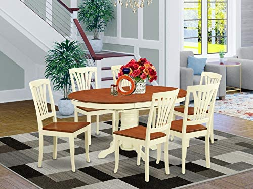 East West Furniture dining set 6 Wonderful dining room chair