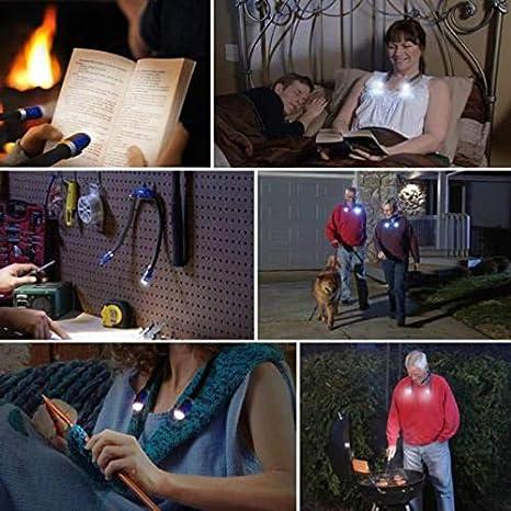 Acreny Livre Mains Libres Flexible LED Livre de Lecture Lampe de Nuit Lampe de Poche Camping lumi/ère
