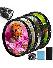 Close-up close-up lens filterkit, fotover 4 stuks (+ 1, 2, 4, 10) macrolenzen accessoires close-up lens filter