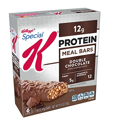 Special K Protein Meal Bars, Double Chocolate, 9.5 oz, 6 Count(Pack of 3)