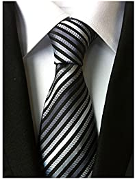 Secdtie Men's Narrow Stripe Pattern Tie Business Party Necktie Various Colors