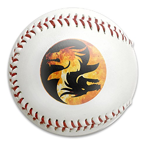 Yin Yang Symbol T-shirt Dragon Theme Chinese Asiatic Size 9 Safety Soft Baseballs Bullet Ball Training Ball White