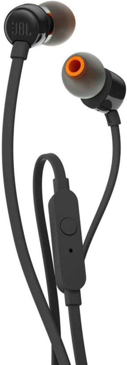 JBL Tune 110 - Auriculares intraaurales con micrófono, negro
