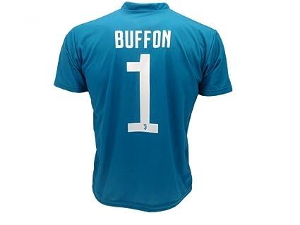 Camiseta de Fútbol GIGI BUFFON 1 Juventus AZUL Temporada ...