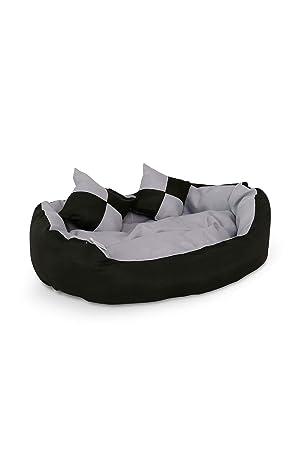 Cama para perros, Colchón para perros (65x50x20cm, negro/gris): Amazon.es: Productos para mascotas