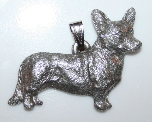 Cardigan Welsh Corgi Dog Harris Fine Pewter Pendant USA Made