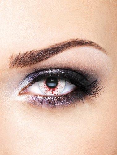 Edit farbige rote blut Bloodshot Kontaktlinsen ohne Stärke für Halloween und Karneval