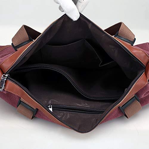 ZSBBshop Taschen Europäische und amerikanische Taschen, Segeltuch, lässige Taschen, große große große Kapazität Damen einzelne Umhängetasche Reisetasche Handtasche, College-Wind-Trend B07KWJQBTS Damenhandtaschen Flagship-Store 9bdd31