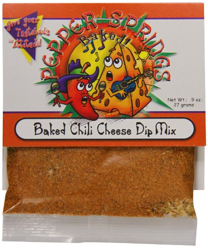 Pepper Dip Mix (Pepper Springs Baked Chili Cheese Dip Mix, 1.0 Ounce)