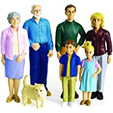 Excellerations Pretend Play Figures - Extended Caucasian Family (Item # PPEXCA)