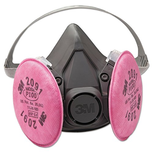 3M Safety 142-6291 6000 Series Half Facepiece Respirator Assembly, - Reusable Respirator Facepiece