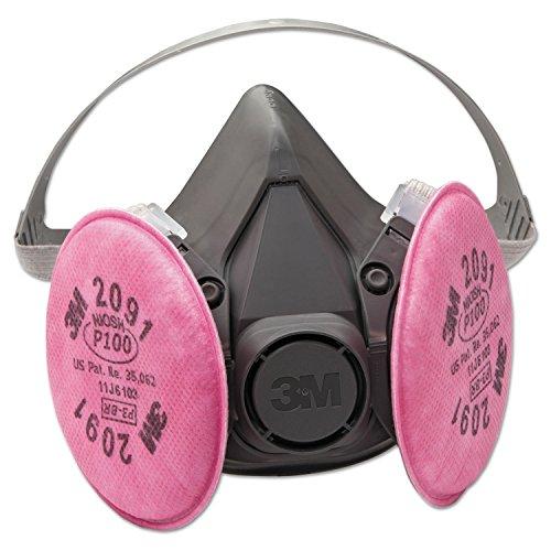 3M Safety 142-6291 6000 Series Half Facepiece Respirator Assembly, Medium
