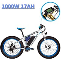 eBike_RICHBIT 022 Électrique Vélo de Montagne Fat Tire Cruiser Cycling 1000W 48V 17AH eBike