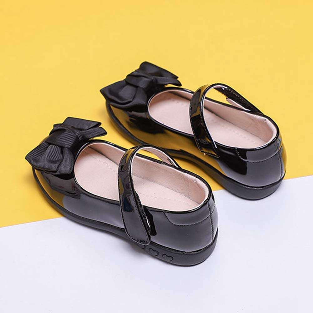 F-OXMY Girls Strap School Uniform Dress Ballet Shoe Bowknot Mary Jane Flat Toddler//Little Kid//Big Kid