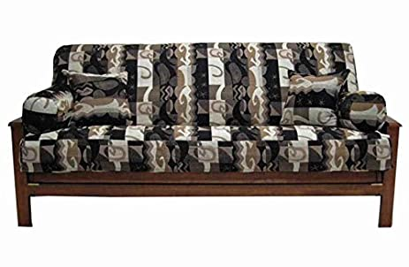 blazing needles 5 piece jaquard cheneel futon cover package  tetris  amazon    blazing needles 5 piece jaquard cheneel futon cover      rh   amazon