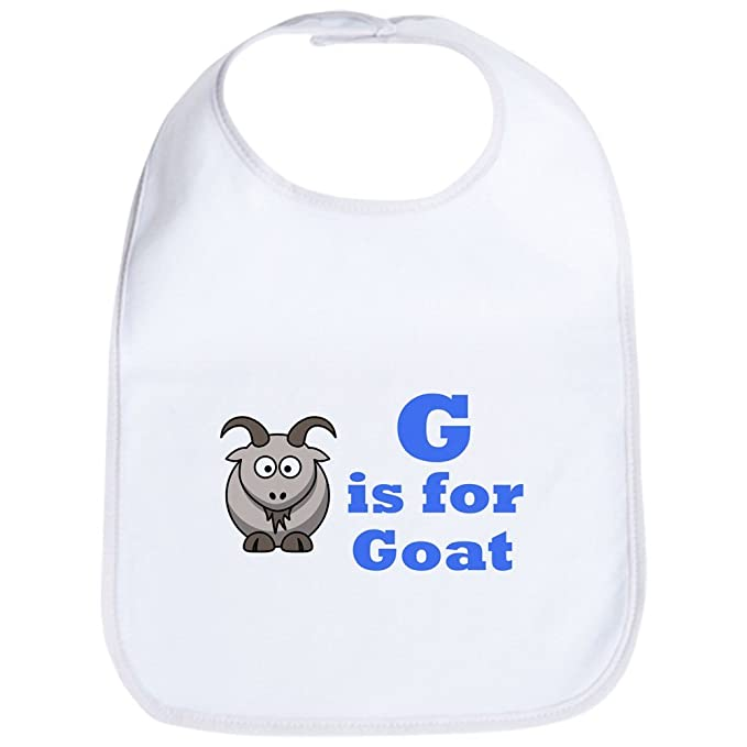d4973402ec5 Amazon.com  CafePress - G is for Goat Blue - Bib - Cute Cloth Baby ...