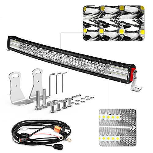 led light bar curved  autofeel 32 inch 470w quad row