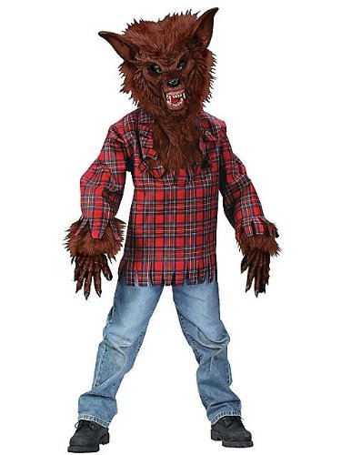 Fun World Werewolf Brown Boy Kids Costume, Multicolor, Large 12-14 -
