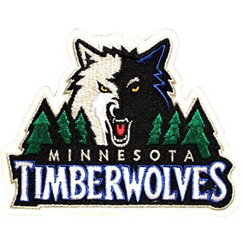 fan products of Official Minnesota Timberwolves Logo Large Sticker Iron On NBA Basketball Patch Emblem