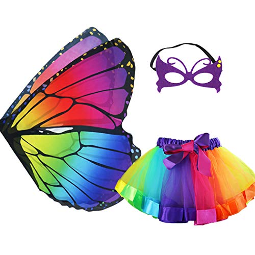 Soft Butterfly Wings Costumes - Rainbow Kids Butterfly Wings Costume for
