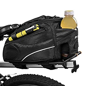 51 n7ed7tAL. SS300 BV Bike Commuter Carrier Trunk Bag with Velcro Pump Attachment, Small Water Bottle Pocket & Shoulder Strap