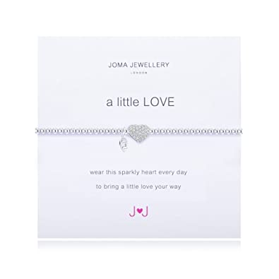 Joma Jewellery a little love sparkly heart bracelet (852) nyOovRvCa