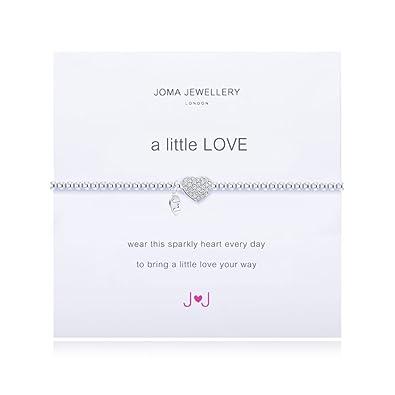 Joma Jewellery a little love sparkly heart bracelet (852) 6aY5T3L