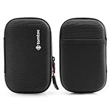 """Tomtoc Shockproof Protective Carrying Case for Hard Drive, 4 Card Slots, Fit 2.5"""" Seagate Backup Plus 5TB 