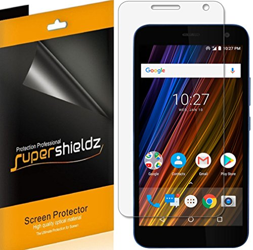 (6 Pack) Supershieldz for Cricket Wave Screen Protector, High Definition Clear Shield - Cricket Protector Screen