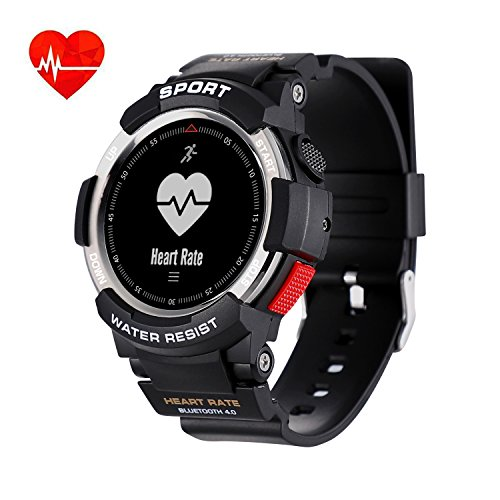 Smart Watch IP68 Waterproof Bluetooth Smart Bracelet with Pedometer Calories Counter Sleep Monitor GPS Activity Tracker Support Android Samsung Htc LG Sony Blackberry Huawei Smartphone iOS by HTSmart