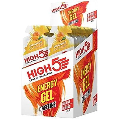 High 5 Energy Gel Plus - 20 x 38g Sachet - Orange