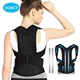 Doact Back Posture Corrector Brace for Women and Men, Adjustable Spine Support Brace with Aluminium Bar for Slouching & Hunching to Improve Bad Posture Kyphosis and Upper Back Pain Relief S