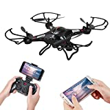 Holy Stone F183W FPV RC Quadcopter Drone with 720P HD Live Video Wifi Wide-angle HD Camera and 6-Axis Gyro with Altitude Hold