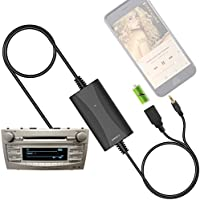 [New Generation] Car Stereo AUX Input Adapter Auxiliary MP3 Kit USB Charger for Toyota Camry Corolla RAV4 Tacoma Highlander Sienna Tundra 4Runner Prius Avalon Yaris, Lexus RX ES GS, Scion tC xA xB xD