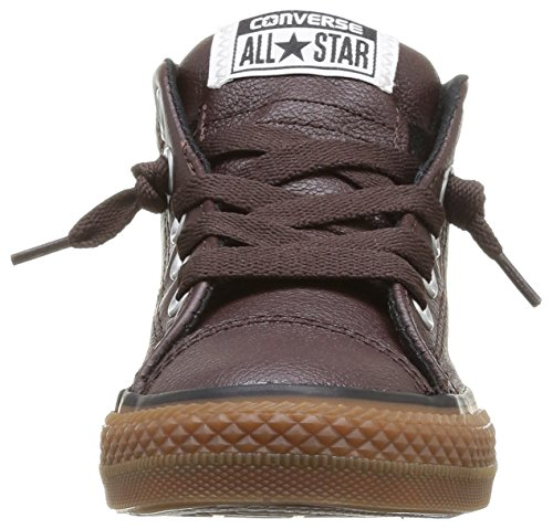 converse chuck taylor all star junior street leather shearling mid