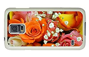 Hipster Samsung Galaxy S5 Case buy Colorful Rose Bouquet PC White for Samsung S5