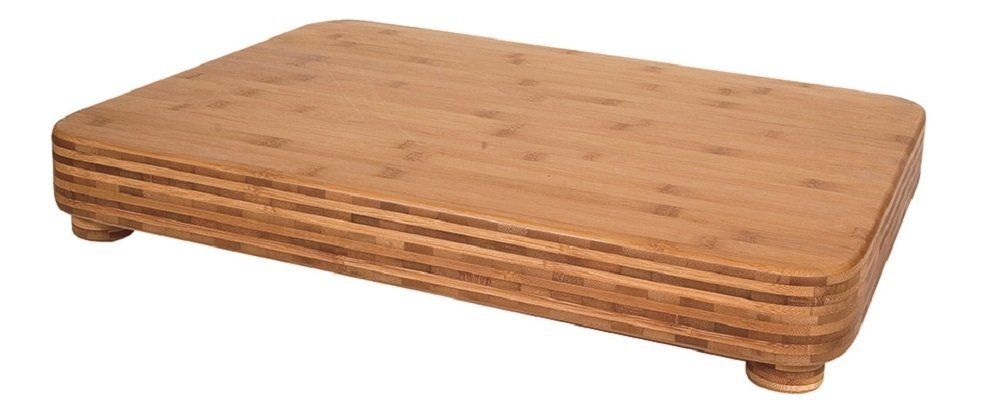 "Totally Bamboo Big Kahuna Superior Cutting & Chopping Board w/ Non-Slip ""Feet"".♻100% Bamboo, Heavy-Duty + Incredibly Stunning. For every Cooking, Slicing, Dicing & Serving need. (24''x18''x 3'')"