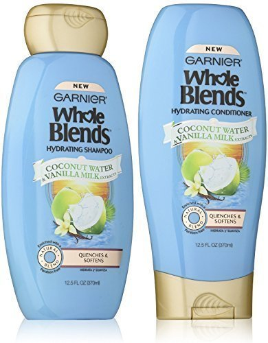 (Garnier Whole Blends Haircare Hydrating Shampoo & Conditioner Set, 12.5 FL OZ)